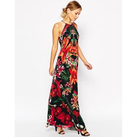 1dbb4e26bc5 ... Tropical Print Maxi Dress. M 5b3c44d7819e90affee486c5